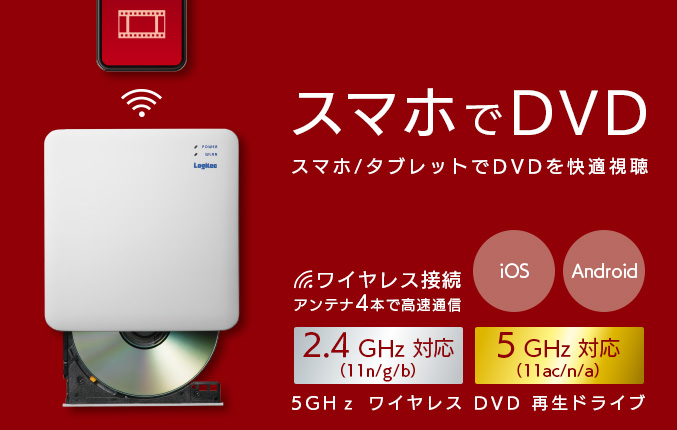 5GHz WiFi DVD reproduction drive